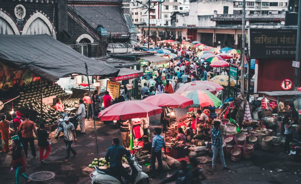 Picture of Pune's market shown in the blog new boy in the city.