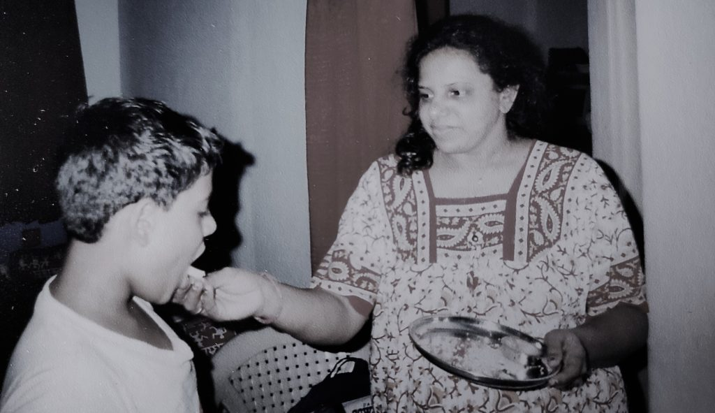 Picture of the author and his mother in the best blog on women.