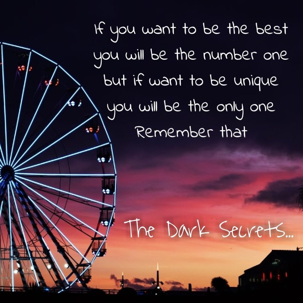 A self motivation quote on being unique rather being best.