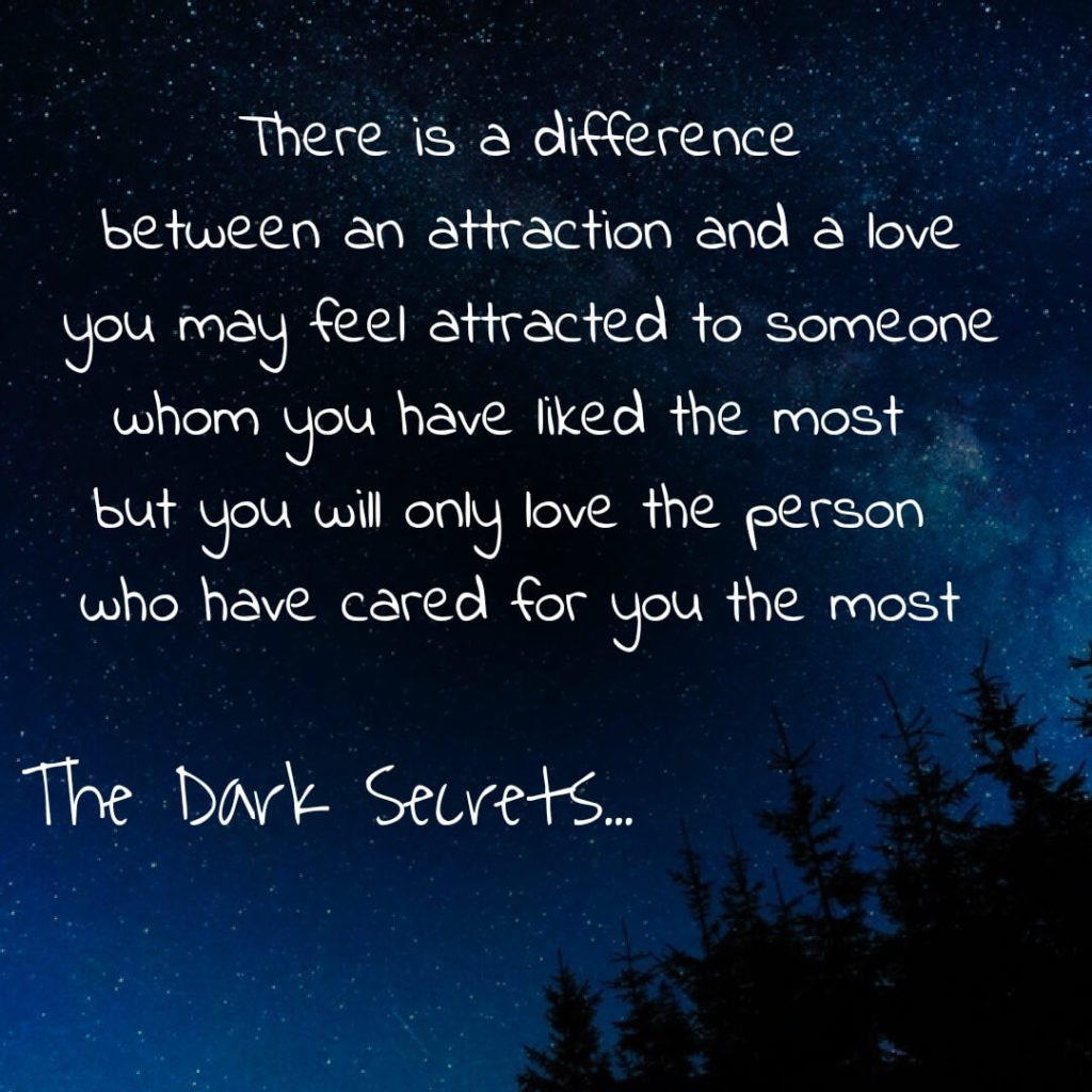One of the best love quotes with images describing the difference between an attraction and a love.