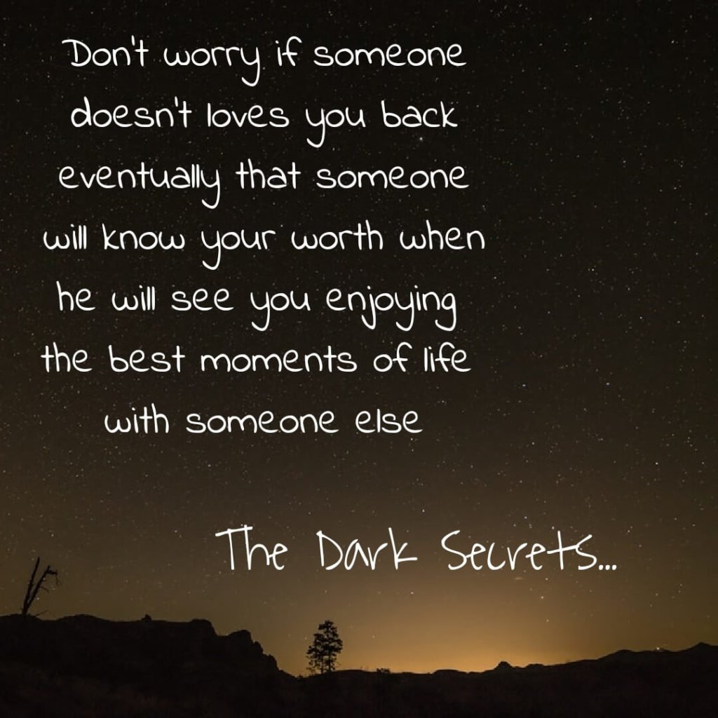 A sad love quote on not being loved b someone special.