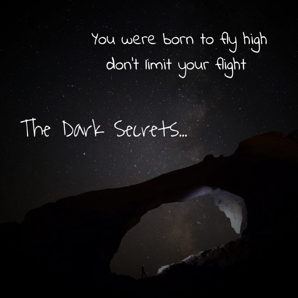 An inspirational quote on flying high.