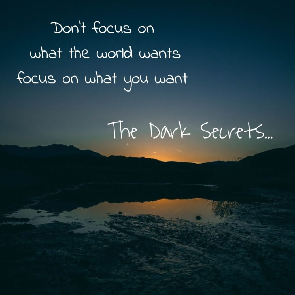 A short inspirational words on being focused for the desire of something