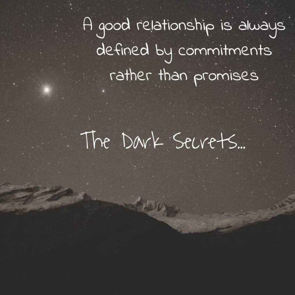 Best love quote image on commitments and promises.
