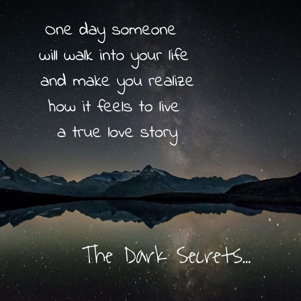 Best heart touching lines on living a true love story.