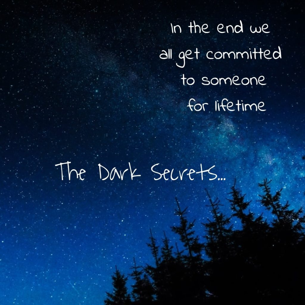 A love quote on getting committed in the end.