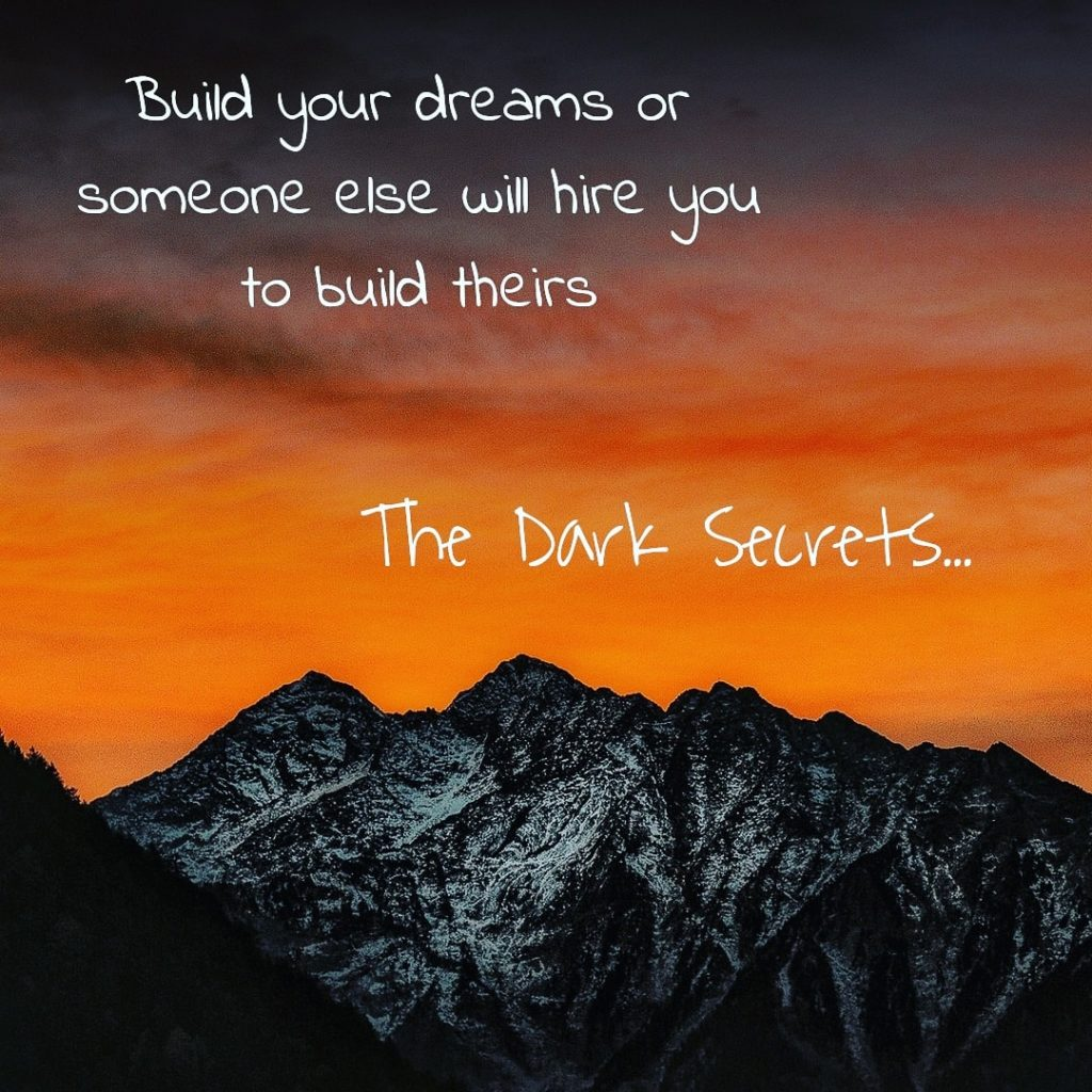 A self motivation quote on building dreams.