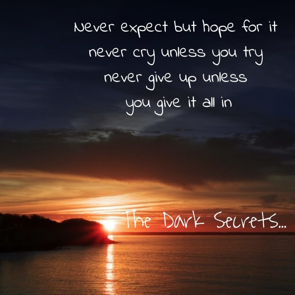 Short inspirational words on not to give up.